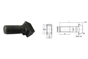 Clip bolt with BSW thread