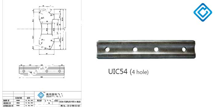 UIC54 rail joint