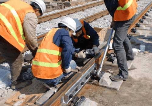 Installation of insulated rail joint