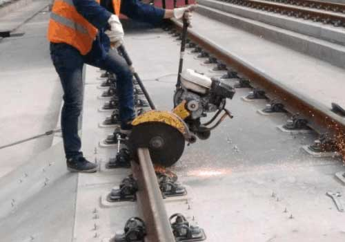 Preparation of the rail