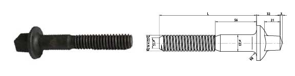 T type screw spike NF-F 50014