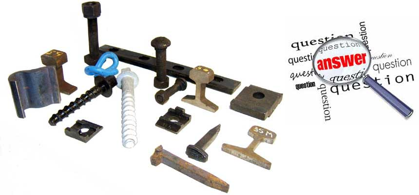 answer to question of railway fasteners
