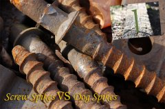 Comparison of dog spikes and screw spikes – two typical railroad spikes
