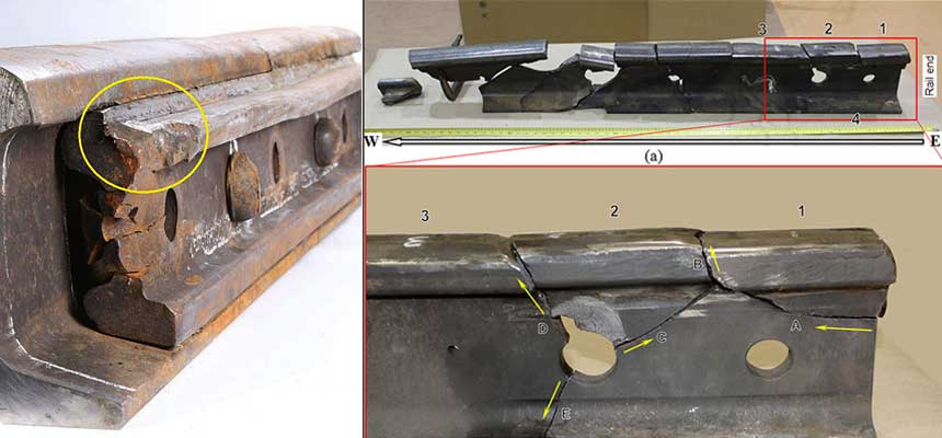 rail joint failure cause