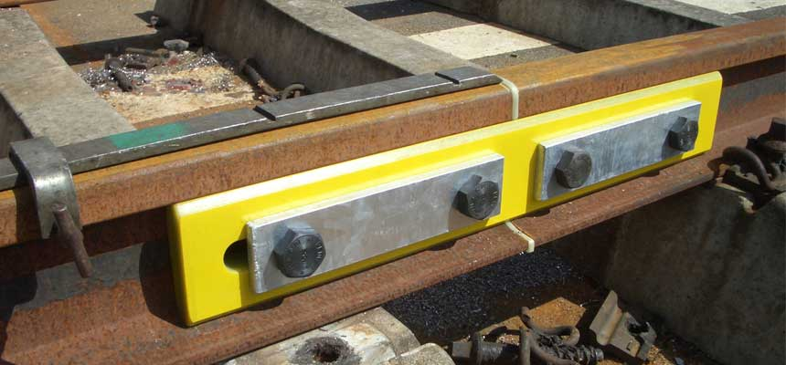glued insulated rail joint installation