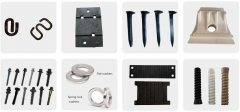 What are the components of rail fastening system?