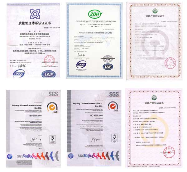 rail way components production certification
