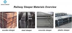 Railway sleeper materials overview: wood, steel, concrete, plastic