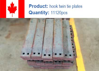 Hook twin tie plate project in Canada