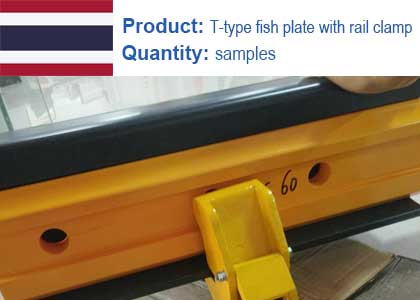 T-type fish plate with rail clamp project in Thailand