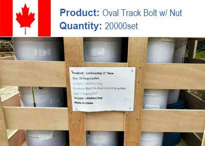 Track bolt and nuts project in Canada